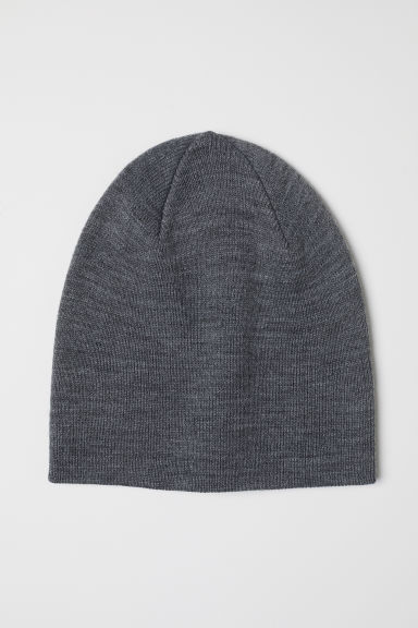 Knitted hat - Grey marl - Men | H&M