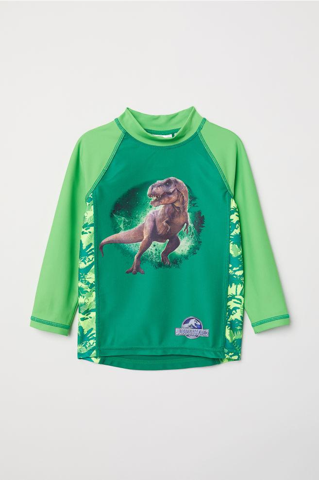 Badeshirt Mit Upf 50 Grünjurassic World Kinder Hm Ch