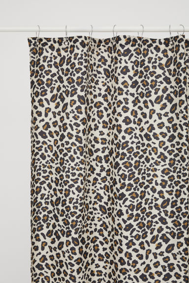 Leopard-print shower curtain - Light beige/Leopard print - Home All | H&M CN