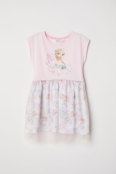 Dress with a tulle skirt - Light pink/Frozen -  | H&M CN