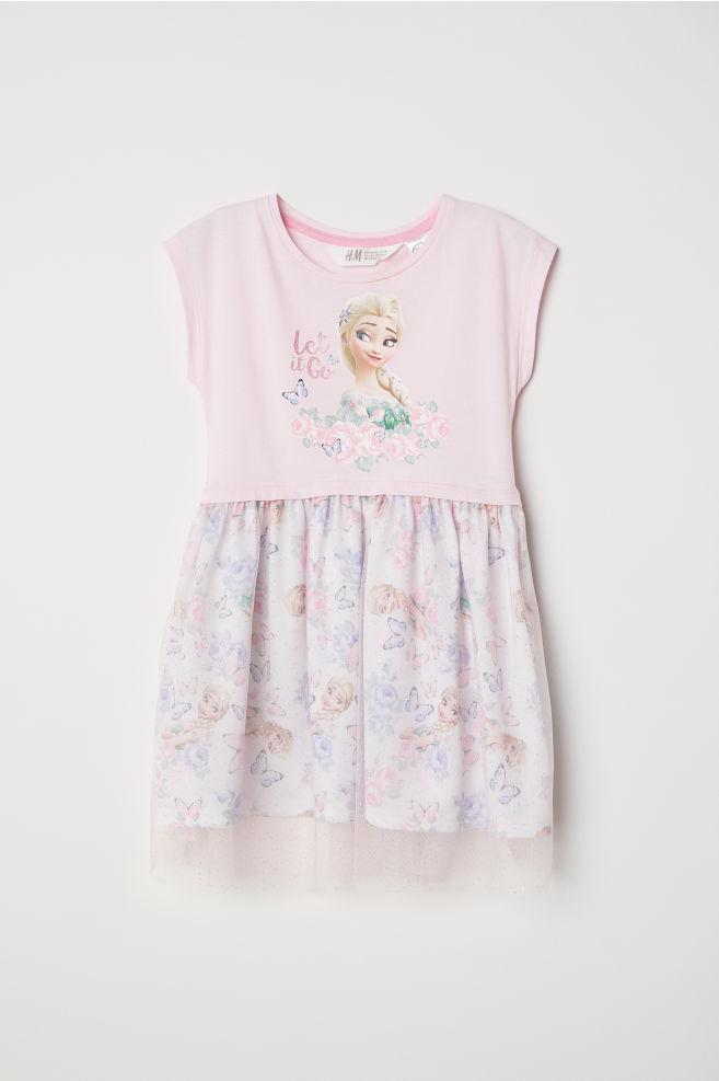 2cab6e8fa7 Vestido con falda de tul - Rosa claro Frozen - NIÑOS