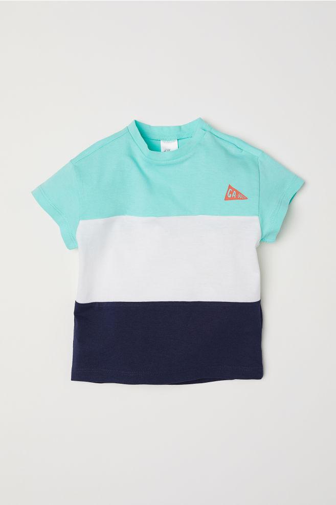 60d305273 Cotton T-shirt - Mint green Block-coloured - Kids