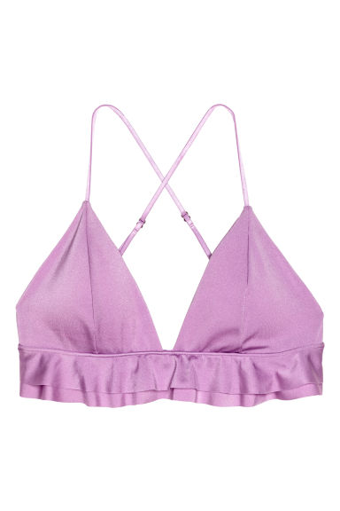 Triangle bikini top - Light purple -  | H&M