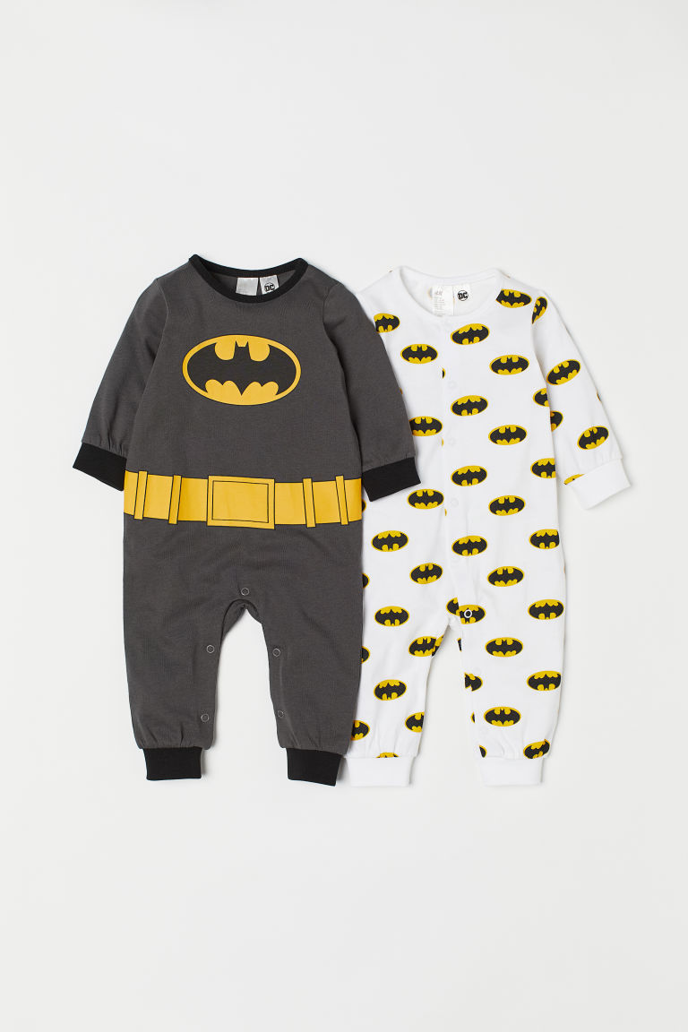 2-pack all-in-one pyjamas - Dark grey/Batman - Kids | H&M CN