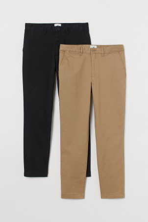 2er-Pack Slim Fit Chinos