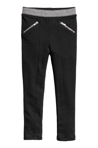 Jersey treggings - Black - Kids | H&M CN