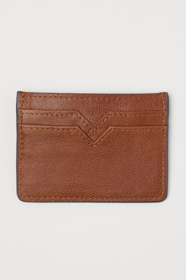 Leather card holder - Brown - Men | H&M