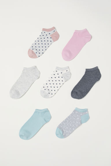 7-pack trainer socks - Grey marl/Spotted - Kids | H&M