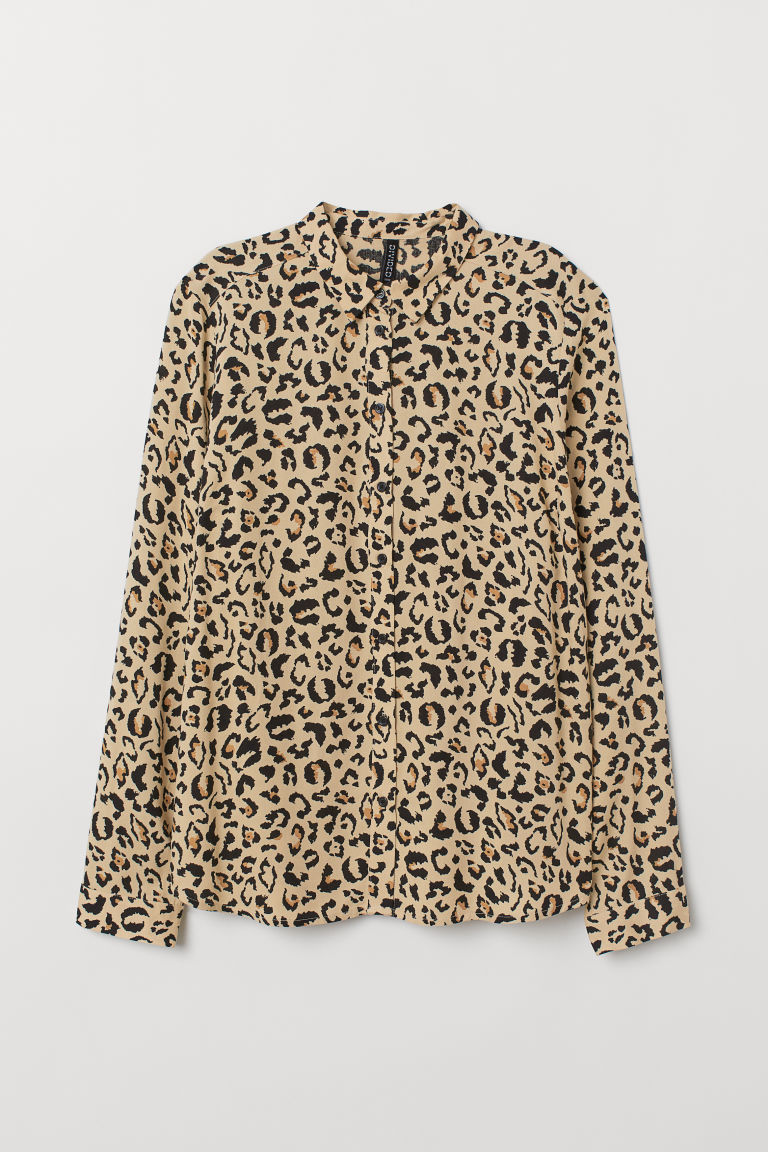 Camicia in viscosa - Beige/leopardato -  | H&M IT