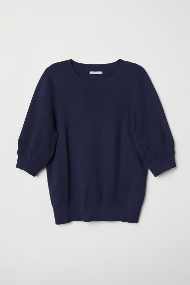 Fine-knit jumper - Dark blue - Ladies | H&M CN