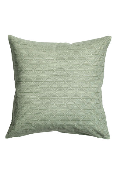 Patterned cushion cover - Green -  | H&M CN