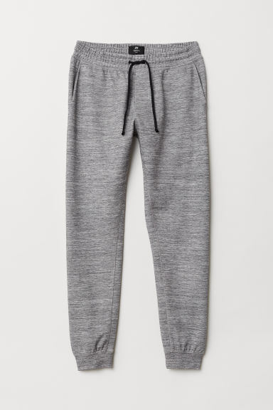 Tapered Fit Joggers - Graumeliert - HERREN | H&M CH