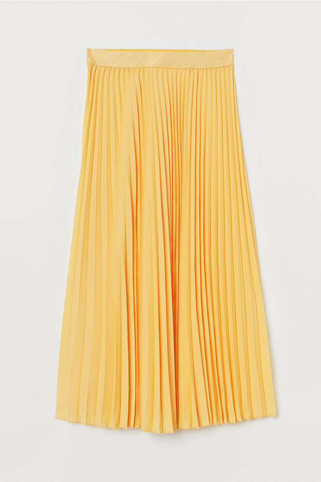 4263024e9c Pleated skirt - Light yellow - Ladies | H&M ...