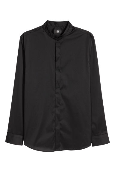 Shirt Slim fit - Black - Men | H&M