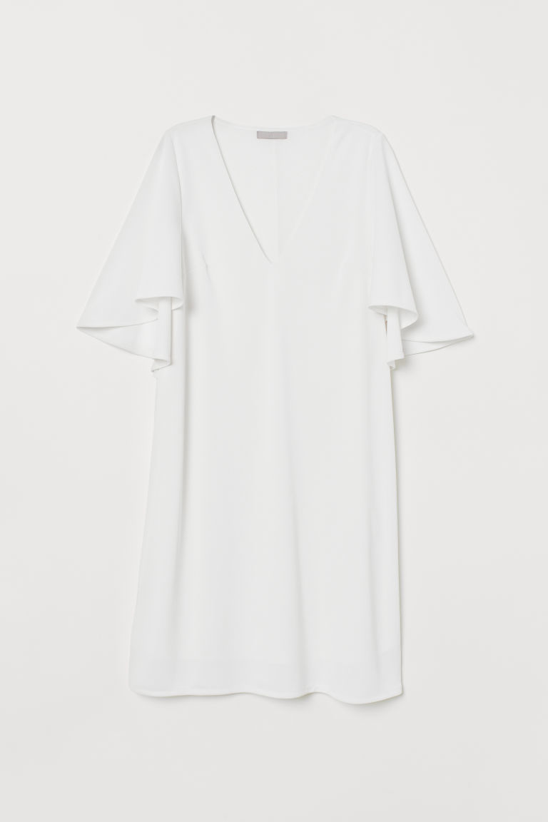 Butterfly-sleeved Dress - Cream - Ladies | H&M US