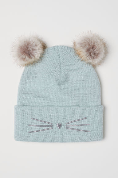 Hat with pompoms - Light turquoise - Kids | H&M