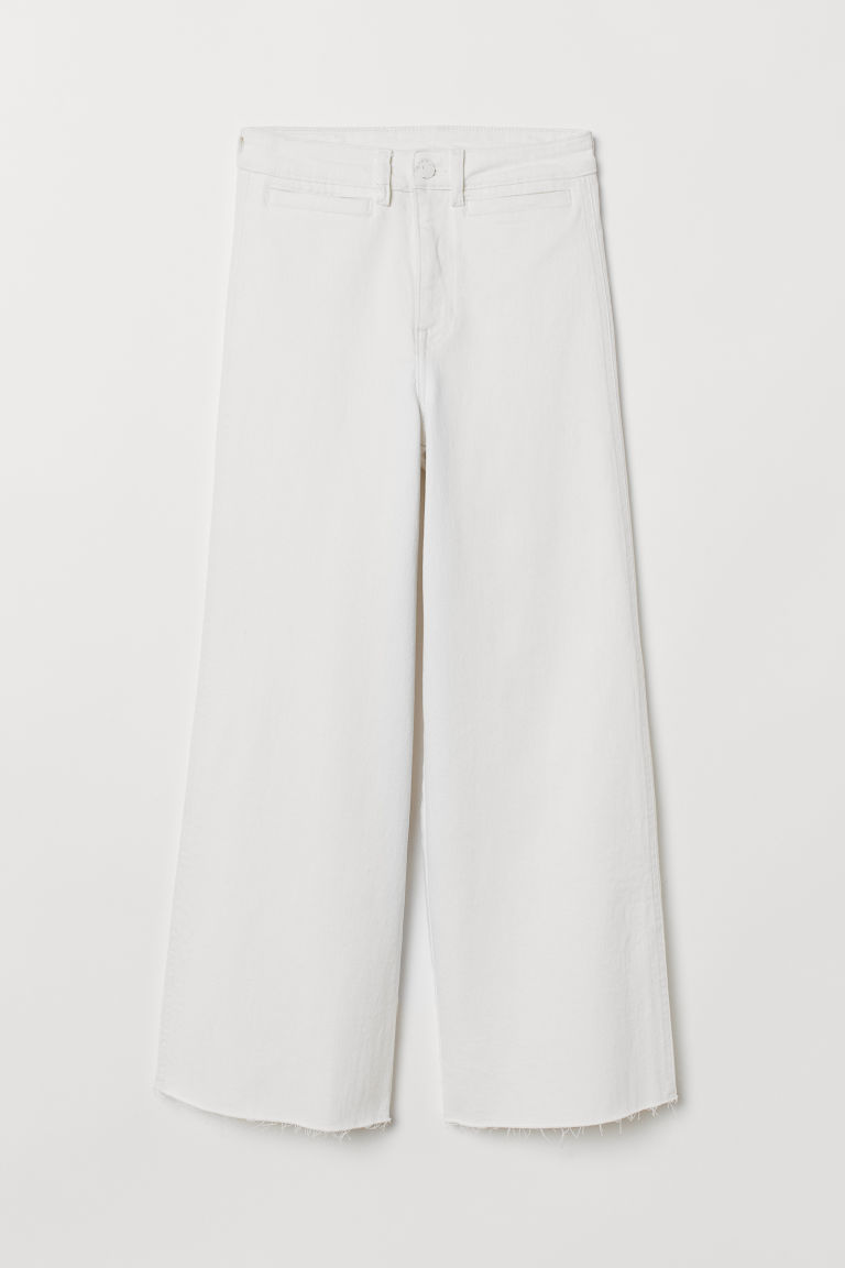 Culotte High Ankle Jeans - Bianco naturale - DONNA | H&M IT