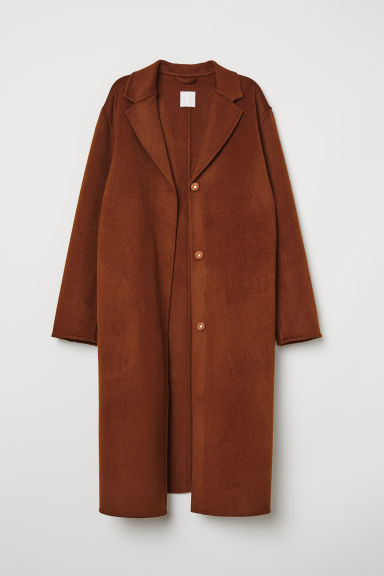 Cashmere-blend coat - Brown - Ladies | H&M GB