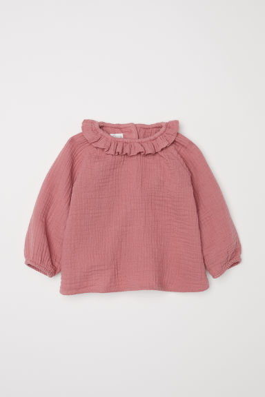 Cotton Blouse - Raspberry pink - Kids | H&M US