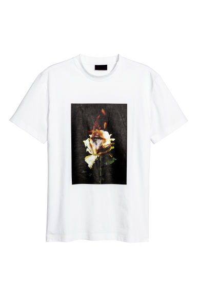 T-shirt met print - Wit - HEREN | H&M BE