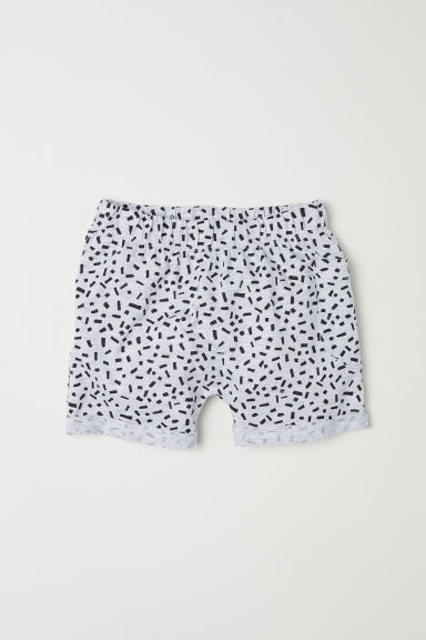 Slub jersey shorts - Grey marl/Patterned - Kids | H&M