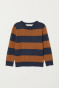 Dark blue/Brown striped
