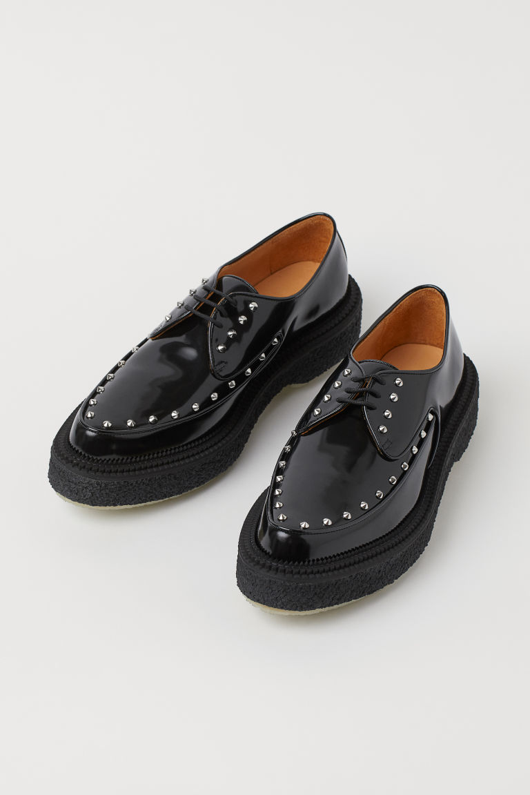 Creepers de piel - Negro - Men | H&M US