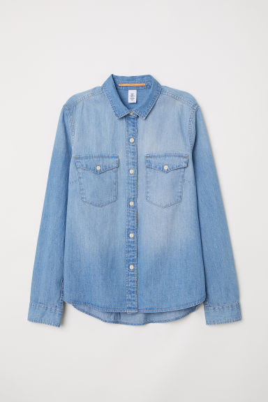 Denim shirt - Light blue - Ladies | H&M CN