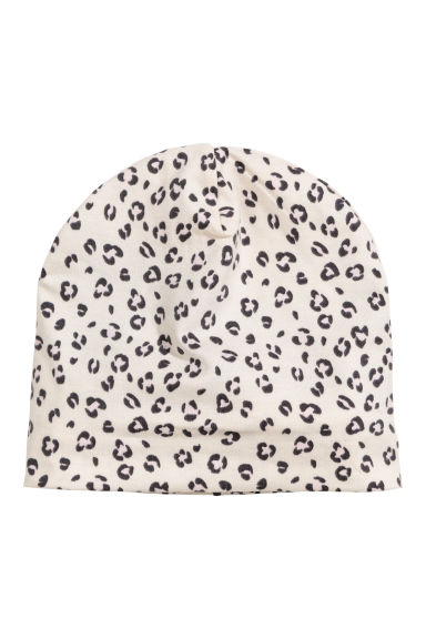 Jersey hat - Light beige/Leopard print - Kids | H&M GB