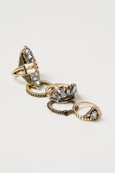 5-pack rings - Gold-coloured - Ladies | H&M CN