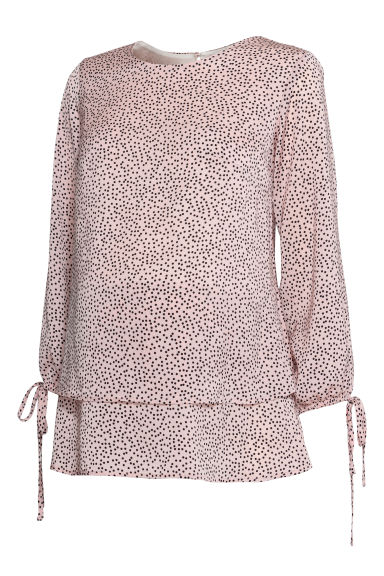 MAMA Nursing blouse - Light pink/Spots - Ladies | H&M CN