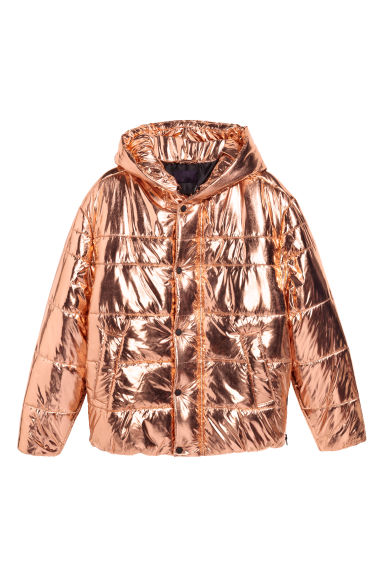 Padded coated jacket - Copper-coloured - Men | H&M CN
