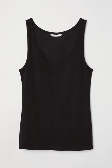 Jersey vest top - Black - Ladies | H&M CN