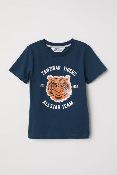 T-shirt con motivo - Blu scuro/tigre - BAMBINO | H&M IT