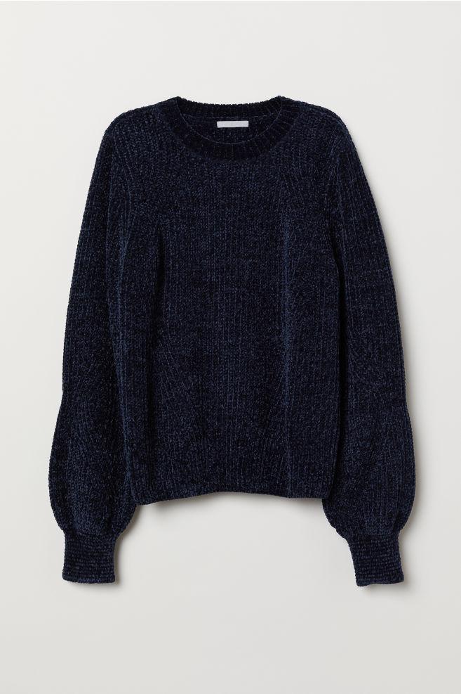 Chenille Sweater - Dark blue - Ladies  cb662cec1