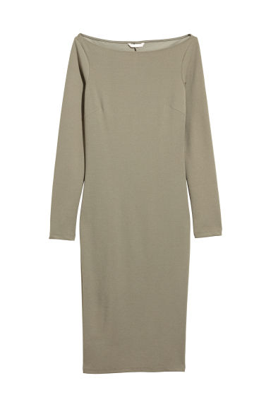 Bodycon dress - Khaki green -  | H&M