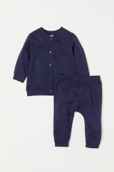 Cardigan and trousers - Dark blue -  | H&M IN