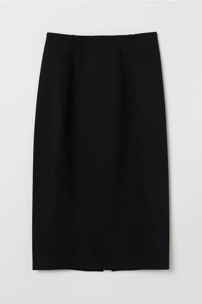 b1b93ea95 Jersey Pencil Skirt - Black - | H&M ...