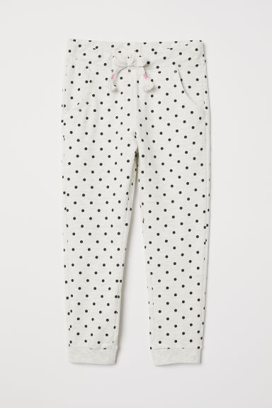 Joggers - Light grey/Spotted - Kids | H&M