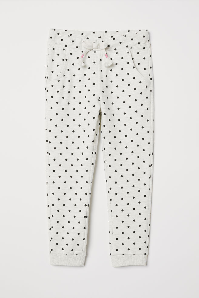 Joggers - Light gray/dotted - | H&M CA 3