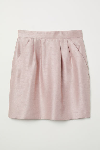 Textured skirt - Powder pink - Ladies | H&M CN