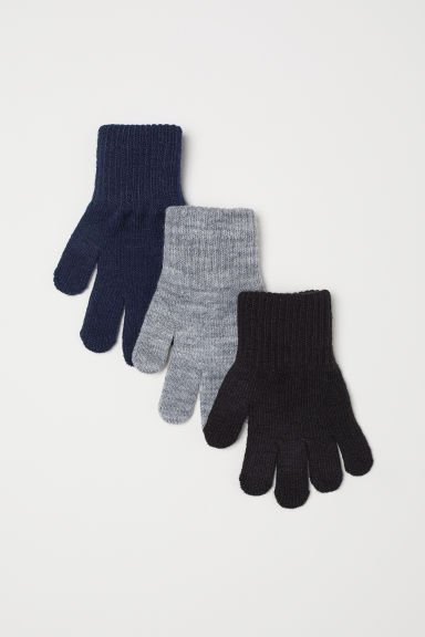 3-pack gloves - Black -  | H&M