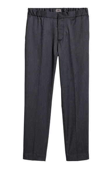 Elasticated suit trousers - Black marl -  | H&M IE