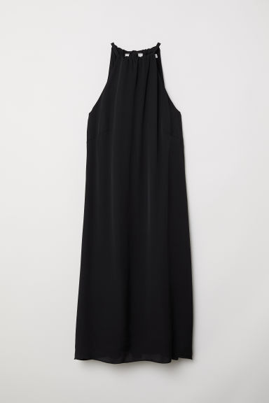 Silk-blend dress - Black - Ladies | H&M