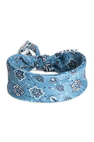 Scarf/hairband - Light blue/Paisley -  | H&M
