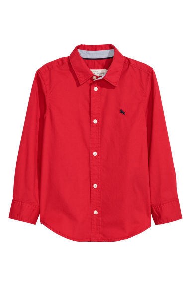 Cotton shirt - Bright red - Kids | H&M