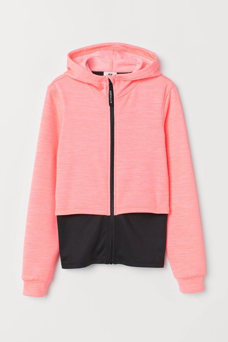 Double-layered sports top - Pink marl/Black -  | H&M CN