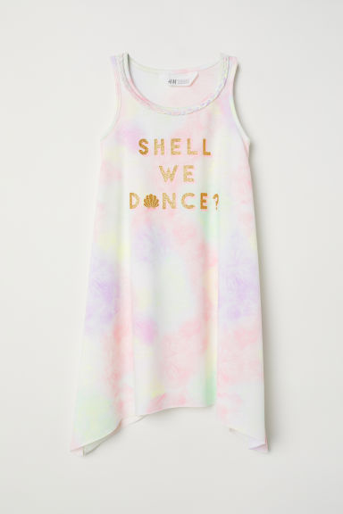 Glitter-print dress - White/Shell We Dance? - Kids | H&M