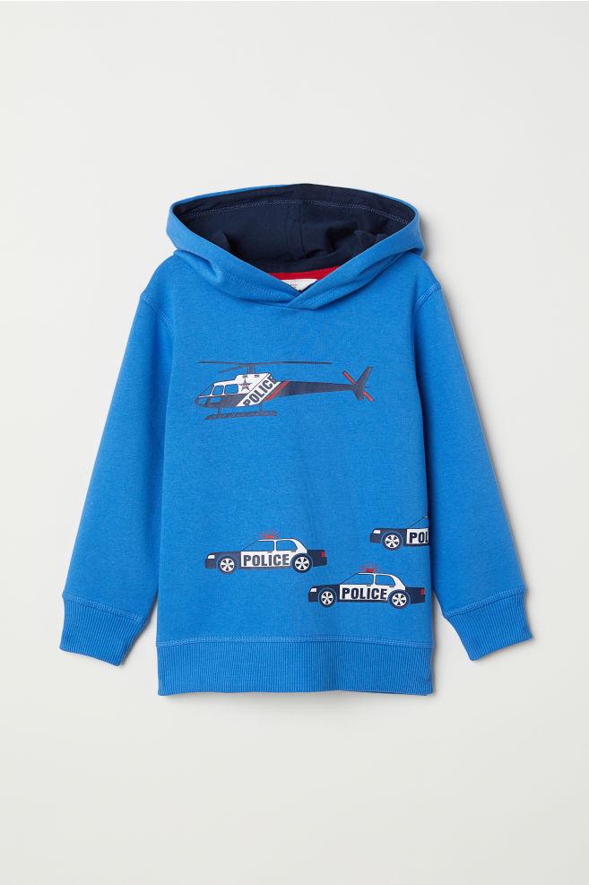 65c53abcfd4 Mikina s kapucí a s potiskem - modrá - DĚTI