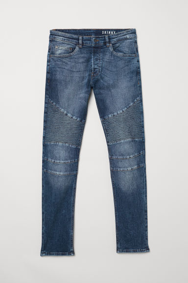 Biker jeans - Dark denim blue - Men | H&M CN